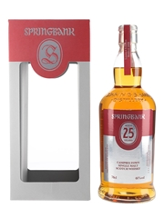 Springbank 25 Year Old Bottled 2016 70cl / 46%