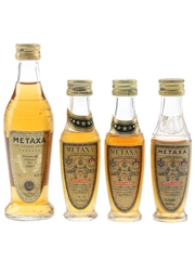 Metaxa Amphora & Gold Label  4 x 2.5cl-5cl / 40%