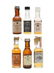 North American Whiskey Assorted Miniatures 6 x 5cl