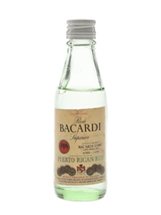 Bacardi Silver Label Bottled 1970s - Puerto Rico 4.7cl / 40%