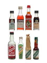 Assorted Bitter Liqueurs Incl. Campari, Fernet Branca & Cynar 5 x 2cl & 3 x 4cl