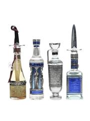 Ouzounis Ouzo Decorative Miniatures 3.5cl & 3 x 5cl