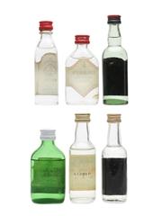 London Dry Gin Miniatures Incl. Gordon's & Bombay 6 x 5cl