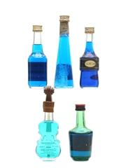 Blue Curacao Liqueurs Assorted Miniatures 5 x 5cl
