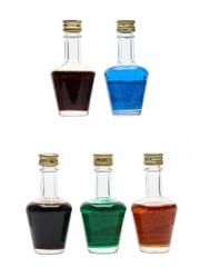 Assorted De Kuyper Liqueurs Bottled 1970s-1980s 5 x 3.5cl