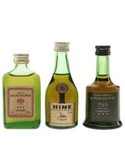 Gaston De Lagrange, Hine & Prince Hubert De Polignac Bottled 1970s 3 x 5cl / 40%