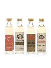 Assorted Blended Scotch Whisky Black Barrel, Glenberry, Metropolitan, Salisbury's 4 x 2cl / 40%