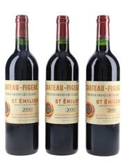 Chateau Figeac 2000 St Emilion Premier Grand Cru Classe 3 x 75cl / 13%