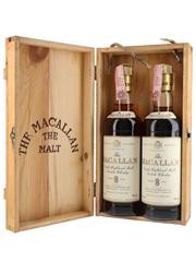 Macallan 8 Year Old Bottled 1980s - Rinaldi 2 x 75cl / 43%