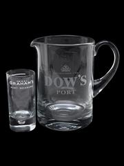 Dow's Jug & Graham's Port Measure  14cm & 9cm Tall