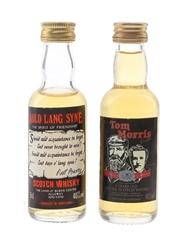 Auld Lang Syne & The Tom Morris Dram Bottled 1980s 2 x 5cl / 40%
