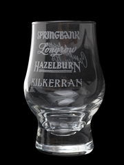 Campbeltown Nosing Glass Springbank, Longrow, Hazelburn, Kilkerran 8.5cm Tall
