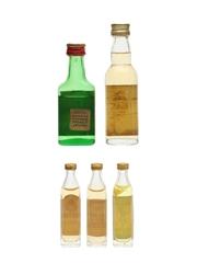 Assorted Blended Scotch Whisky Bartels, Black Barrel, Clan House, Highlander & Scottish Dance 5 x 1.1cl-4cl / 40%