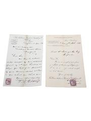 Oban & Aultmore Glenlivet Distilleries Ltd. Receipts, Dated 1899