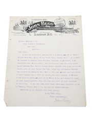 John Begg Royal Lochnagar Letter, Dated 1903