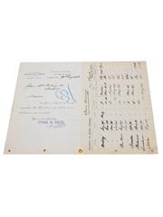 Charles Haig Price List, Dated 1903