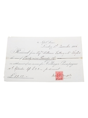 Assorted Champagne Correspondence, Dated 1859-1907 William Pulling & Co.