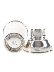 Cocktail Shaker Electro Plated Nickel Silver 20cm Tall
