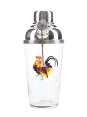 Rooster Glass Cocktail Shaker