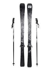 Veuve Clicquot Skis Elan 152cm Skis / 115cm Poles