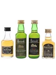 Burberrys, Harrods & House Of Lords Bottled 1980s 4 x 5cl / 40%