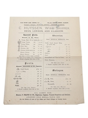 Assorted Correspondence & Price Lists, Dated 1822-1903 William Pulling & Co.
