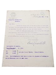 Assorted Correspondence & Price Lists, Dated 1904-1909 William Pulling & Co.