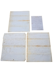Hennessy Correspondence & Receipts, Dated 1848-1861