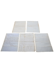 Hennessy Correspondence & Receipts, Dated 1864-1866