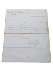Hennessy Correspondence & Receipts, Dated 1864-1866 William Pulling & Co.