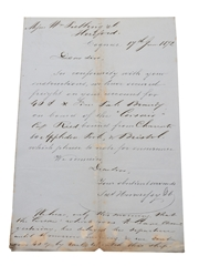 Hennessy Correspondence & Invoice, Dated 1872-1877 William Pulling & Co.