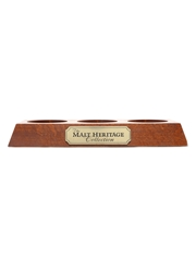 The Malt Heritage Collection Bottle Display Stand Scapa, Laphroaig, Glendronach 32cm x 13cm x 4cm