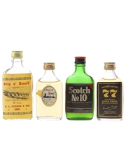 Brig O' Banff, House Of Peers, Seventy Seven & Scotch No. 10 Bottled 1960s-1970s 4 x 3.7cl-5.6cl