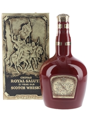 Royal Salute 21 Year Old Bottled 1990s - Red Wade Ceramic Decanter 100cl / 40%