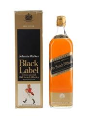 Johnnie Walker Black Label Bottled 1970s-1980s - Duty Free 100cl / 40%