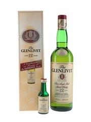 Glenlivet 12 Year Old Bottled 1990s 5cl & 70cl / 40%