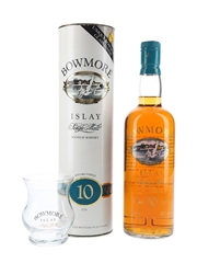Bowmore 12 Year Old Bottled 1980s - Free Bowmore Glass 75cl / 40%