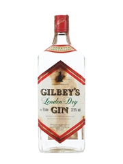 Gilbey's London Dry Gin Bottled 1980s 100cl / 37.5%