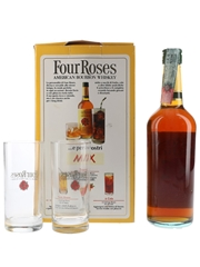 Four Roses 6 Year Old Glasspack Bottled 1990s - Seagram 70cl / 40%
