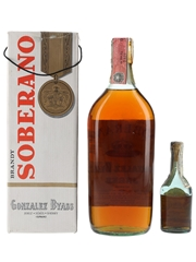 Soberano Brandy Bottled 1960s-1970s 5cl & 75cl