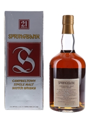 Springbank 21 Year Old Bottled 1990s 70cl / 46%