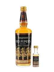 Seagram's 100 Pipers Bottled 1980s - Seagram Italia 2.8cl & 75cl