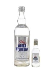 Polmos Wodka Wyborowa Bottled 1970s-1980s 5cl & 50cl / 45%