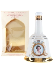 Bell's Ceramic Decanter Queen Elizabeth II 60th Birthday 75cl / 43%