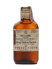 John Haig & Co. Gold Label Spring Cap Bottled 1930s - James M McCunn & Co. 4.7cl / 43.4%