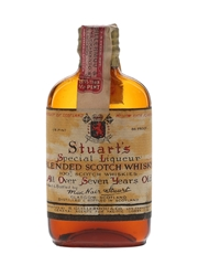Stuart's 7 Year Old Bottled 1930s - R Guillermou & Co. 5.9cl / 43%
