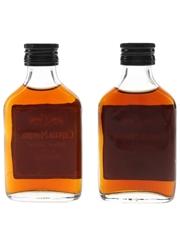 Captain Morgan Black Label Rum Bottled 1970s 2 x 5cl / 40%