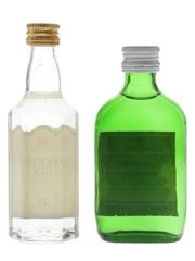 Booth's & Gordon's Gin Bottled 1970s 2 x 5cl / 40%