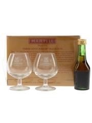 Martell Medaillon VSOP Glasses Gift Pack Bottled 1980s 5cl / 40%
