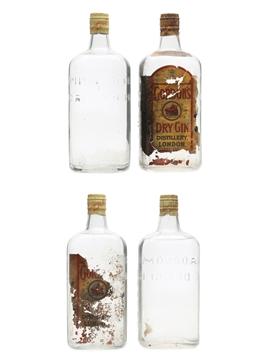 Gordon's Gin Spring Cap Bottled 1960s 4 x 75cl / 47.3%